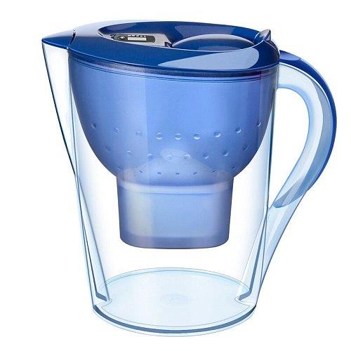 Water Jug Purifier w/ Filter Reduce Sediment Chemicals Copper No BPA 14 Cup/3.5L