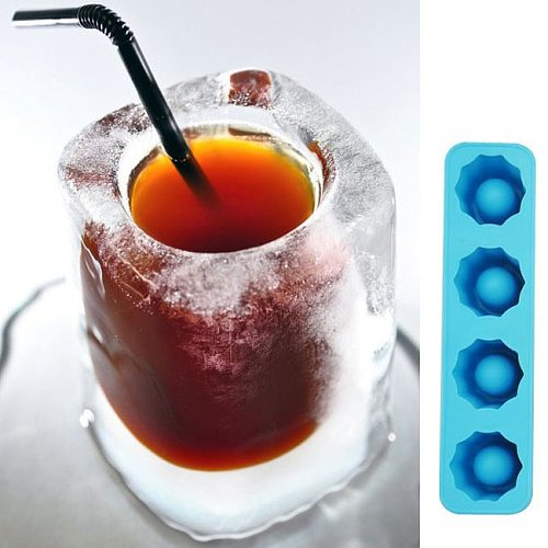 Ice Cube Tray Mold Makes Shot Glasses Ice Mould Novelty Gifts Ice Tray Summer Drinking Tool Ice Shot Glass Mold