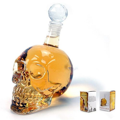 1000ml Skull Wine Bottle Glasses Wineglass Gift Set Shot Glasses Vodka Champagne Glasses Whiskey Glasses Set Bar Cocktail Glass