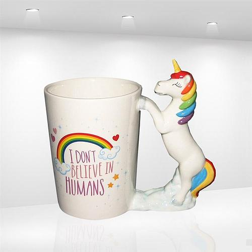 1pcs Unicorn Mugs Cartoon Porcelain 3D Handpainted Ceramic Cute Funny Animal Water Cup Coffee Mug for Home Drinkware