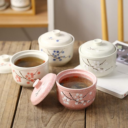 Japanese Ceramic Cookware Soup Pot Cooking Pot High Temperature Stew Mini Ceramic Casserole Egg Frying Pan Kitchen Steam Pots