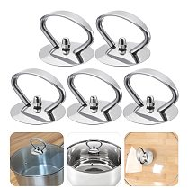 5Pcs Stainless Steel Pot Handles Lid Covers Kitchen Pot Grip Knob Lid Cover Knobs Replacement Universal Kitchen Replacement Set
