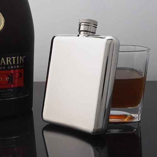 Quality hip flask 6oz stainless steel 304 pocket 170ml metal wine bottle portable  whiskey man gift
