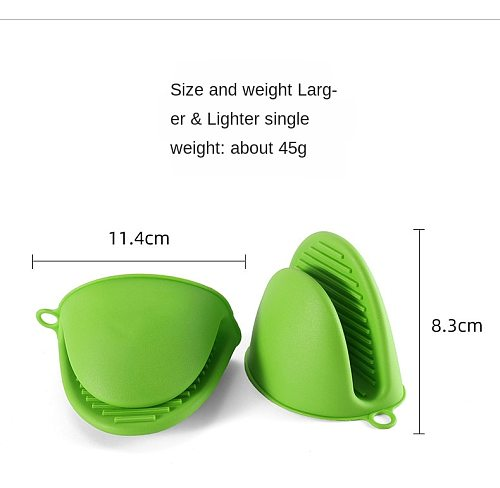 2PCS Silicone Hand Clip Kitchen Helper Tools Heat Insulation Gloves Baking Microwave Oven Mitts Pot Holder Protection T2764