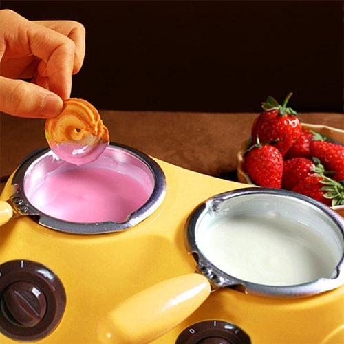 Aluminum Liner Plastic Hot Chocolate Melting Pot Electric Fondue Melter Machine M2EE