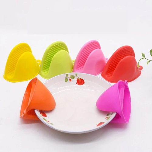 Silicone Kitchen Baking Oven Heat Resistant Gloves Insulation Non Stick Anti-slip Grips Bowl Pot Clips Cooking Baking Oven Mitts