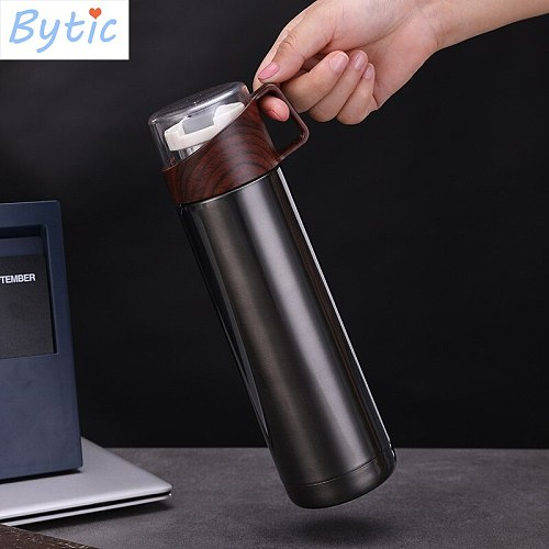 350ML or 500ML Thermos Flask Bottle 304 Stainless Steel Vacuum Cup for Long Time Preservation