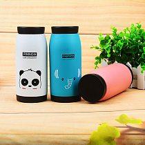 Cute Winter Warm Drinking Bottle Mini Vacuum Mug Cute Animal Kid Thermos Stainless Steel Hot Water Bottle Travel Cup