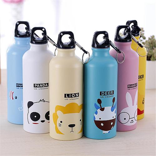 9 500ml Cute Water Blttle Lovely Animals Outdoor Portable Sports Cycling Camping Hiking Bicycle School Kids Water Bottle