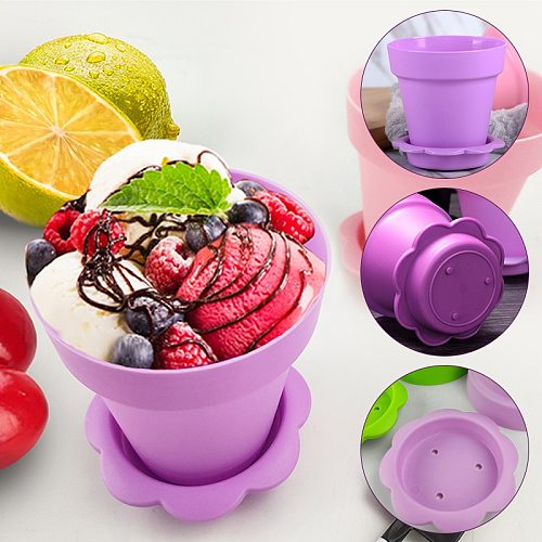 20sets Plastic Pot Cake Pudding Disposable Cups Dessert Fruit Cake Cup For Birthday Wedding Party Pudding Ice Cream Cup With Lid