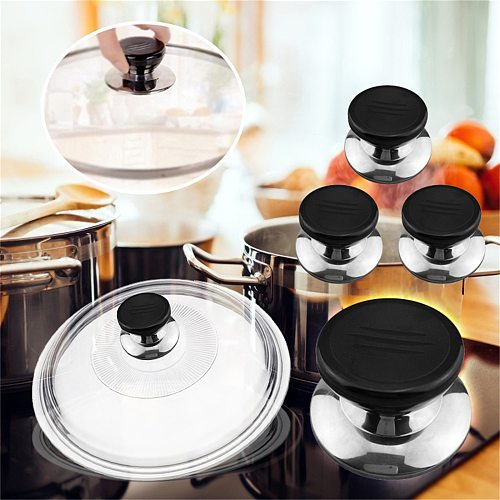 4pcs Replaceable Universal Lid Handle Anti-scalding Glass Pot Cover Kitchen Accessories Cookware Parts Kitchen,dining & Bar