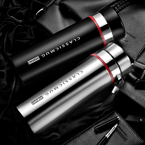 1000ml/800ml/600ml Double Stainless Steel Thermos Mug With Filter Portable Insulated Cup Vacuum Flask Tumbler Water Bottle