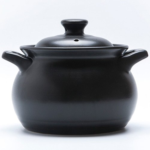 Chinese casserole household mini baby ceramic soup pot open fire high temperature resistant gas small milk rice cooking stew pan