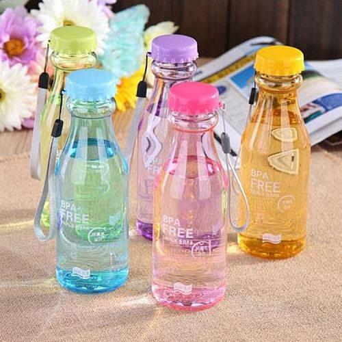Unbreakable Water Bottle shaker Sports Travel Portable Leak-proof Cycling Camping Water Bottle 550ML Soda Bottle With Lanyard