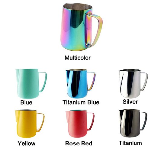 PERU Milk Pitcher Foamer Mugs Italian Latte Coffee Maker Jug  Frother Cup 350/600Ml