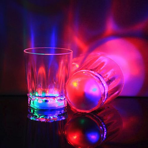 Multicolor LED Glowing Glasses Cup Flash Light Up Cups Drinking Flashing Shot Light Bar Night Club Party Luminous Cup Neon Cup