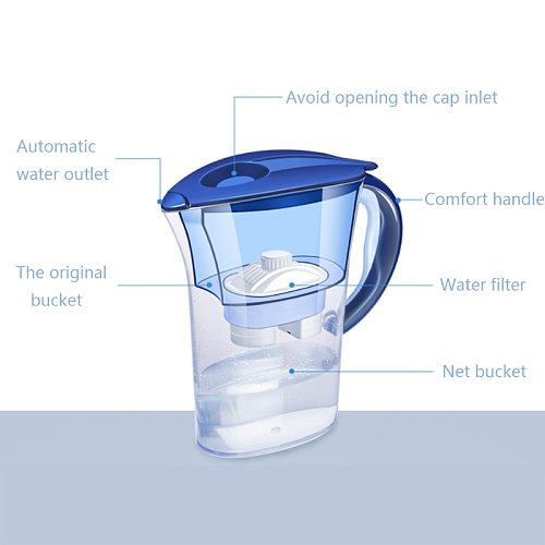Water Filter Household Activated Carbon Jug Home Purifier Healthy Drink Machine A6HB