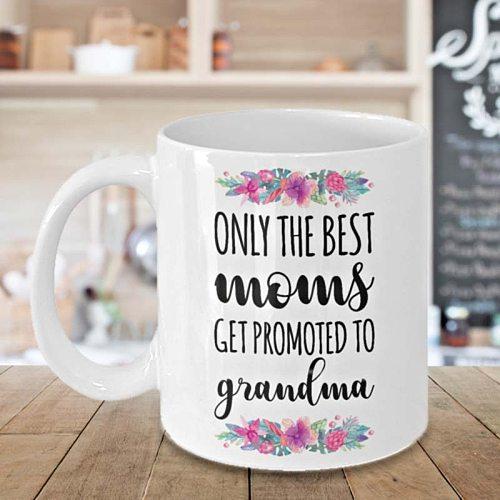 Best Grandma Mug Coffee Mug Happy Mothers Day Cup Baby Shower Gift Novelty Gift
