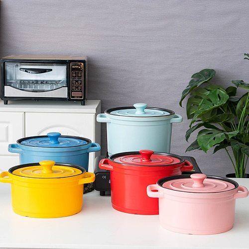 PotteryPot color casserole household gas open fire soup pot small casserole soup pot high temperature earthen pot soup wholesale