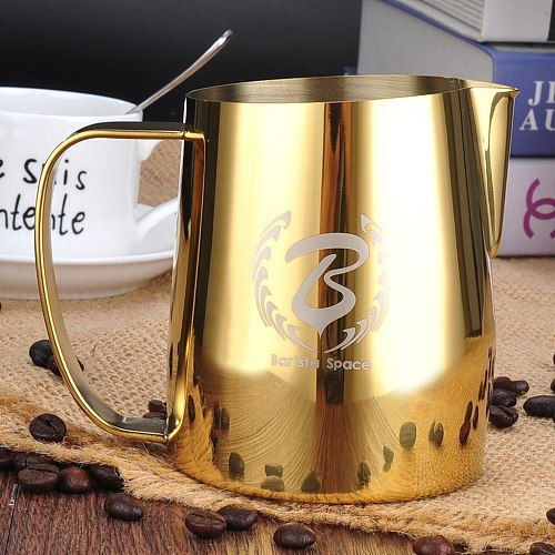 Barista Space Gold Steel Milk Pot Pitcher 600 ml.
