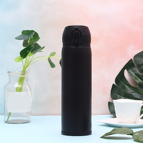 #40 500ml Travel Mug Office Coffee Tea Keep Warm Water Bottle Cups Thermos Warm Keeping Water Cup Sports Bottle Thermoses