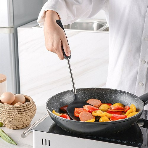 Convenience Non-Stick Pan Spatula Spoon Colander Cooking Tool Kitchen Food Grade Silicone Cookware Household Accessories Supplie