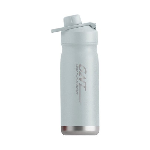 304 Stainless Steel Water Bottle 550ML Portable Sport Gym Bike Drink Bottle with Straw Bamboo Lid Flask Travel Cup