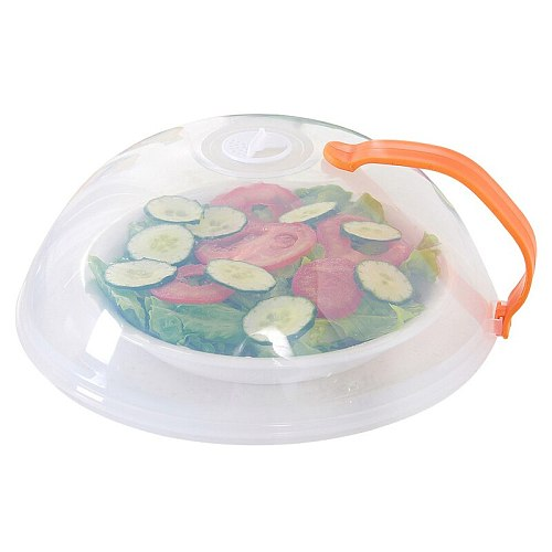 Food Anti-Sputtering Cover With Handle Reusable Silicone Caps Food Cover Kitchen Wrap Seal Fresh Keeping Cookware Accessories