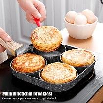 Four-hole Frying Pot Pan Thickened Omelet Pan Non-stick Egg Pancake Steak Pan Cooking Egg Ham Pans Breakfast Maker Cookware
