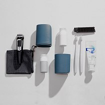 New Travel Toothbrush Cup Bathroom Accessories Set Plastic Water Cup Storage Toothbrush Cup Sub-bottle Portable Brush Cup