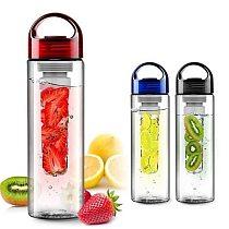 700ML Plastic Fruit Infuser Juice Shaker Sports Lemon Water Bottle Tour Outdoor Hiking Camping Portable Drinkware Bottle