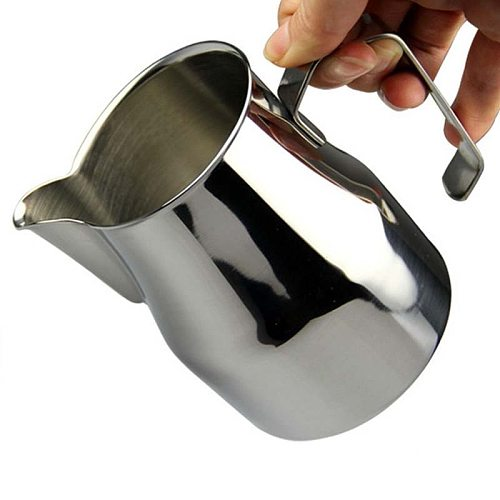 700ml Stainless Steel Milk Pitcher Suitable for Coffee, Latte & Frothing Milk Coffee Pitcher Pull Flower