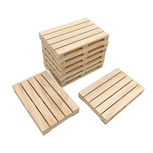 1pc Mini Wooden Pallet Beverage Coasters for Hot and Cold Drinks Wood Pallet Coasters Flower Pot Cushion