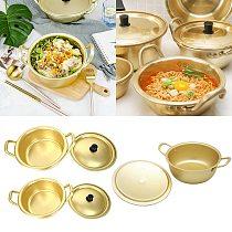 Korean Ramen Pot Noodles Paomian Pan Thickened Yellow Aluminum Pot Aluminum Soup Hot Pot Golden Kitchen Cookware Wok