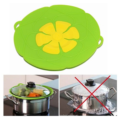 Frying Pan Lid Silicone Pan Lids with Frying Pans spill stopper lid cover Pan Lid Flower Cookware Kitchen Silicone Pan Cover