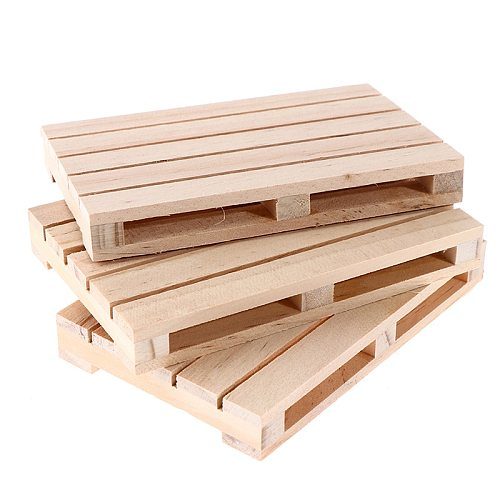 1pcs Mini Wooden  Pallet Beverage Coasters For Hot And Cold Drinks  Insulation Pad Cup Coaster Pot Mat