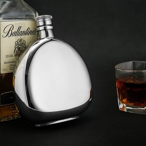 hip flask 600ml whisky pot 19oz stainless steel 304 metal alcohol container wine bottle men gift