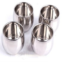 1PC Stainless Steel Wine  Coffee  Double Layer Wine Glass Tea  Stainless Steel  Drinkware Kitchen Tool