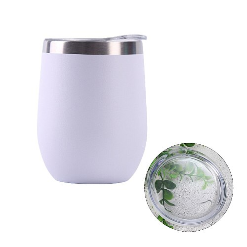 12oz Home Office With Lid Gift Drinkware Wine Tumbler Reusable Water Bottle Portable Stainless Steel Vacuum Insulated Mug Travel