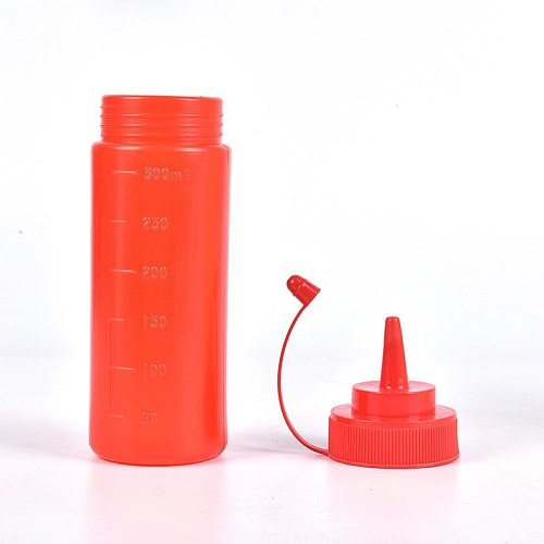 12oz(300ml) Sauce Vinegar Oil Ketchup Gravy Cruet Kitchen Accessories Gravy Boat Plastic Condiment Dispenser 12oz Squeeze Bottle