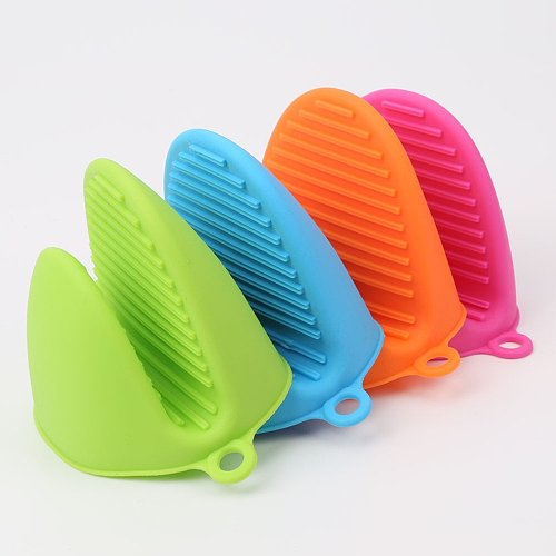 5 Colors Silicone Anti-scalding Gloves Dish Holder Kitchen Insulation Tray Dish Bowl Baking Oven With Hand Clip