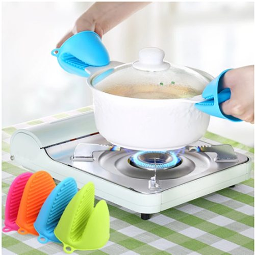 2020 Silicone Anti-Scalding Oven Gloves Mitts Potholder Kitchen BBQ Gloves Tray Pot Dish Bowl Holder Oven Handschoen Hand Clip