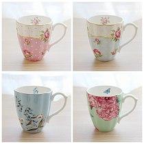Vintage High Tea Cup Set European Coffee Cup Tea Ceramic Espresso Cups Set Saucer Set Tazas Environmentally Friendly Home