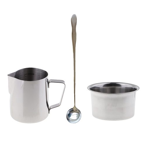 3x Candle Making Pot Pitcher Double Boiler For Melting Wax & Soap With Spoon