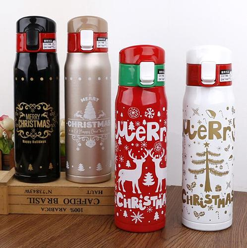 TECHOME Christmas Vacuum Flasks Thermos Bottle Insulation Cup Stainless Steel For Friends Bottle Gift Thermal Cup