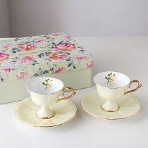 Retro European Coffee Cup Set High Quality Creative Ceramic Espresso Mug Home Gift Afternoon Tea Cups Tazas Drinkware DA60BYD