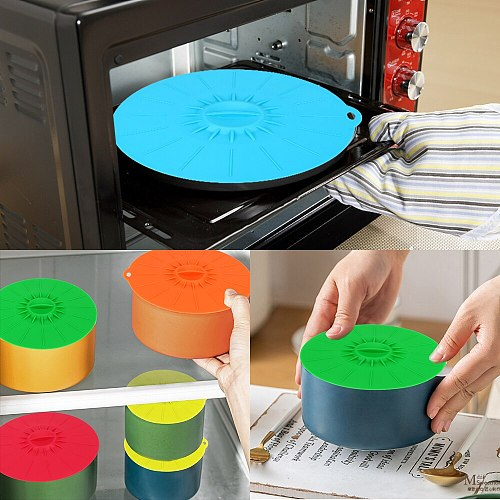 Pan Lid Stopper Microwave Bowl Cover Reusable Silicone Stretch Lids Kitchen Tools 5Pcs Food Fresh Cover Bowl Pot Cup Lid
