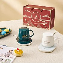 Portable Coffee Warmer Coaster Set 55 Constant Temperature Cup Warmer Coffee Milk Tea Warm Cup Coaster Gifts For Friend Family