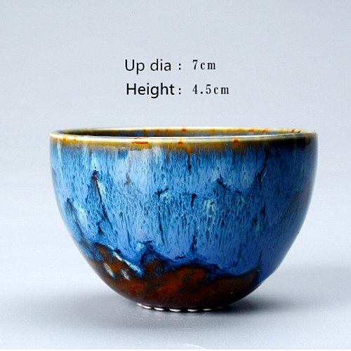 Ceramic Kiln Tea Cup Change Porcelain Mug TeaCup Home Kungfu Tea Bowl Single Cup Tianmu Jianzhan Kung Fu Teaware Home Decor