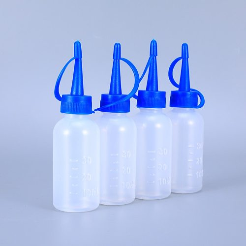 100PCS of 30ML Plastic Squeeze Applicator Measuring Bottles Empty Scale container for liquid hairdressing Glue bottle